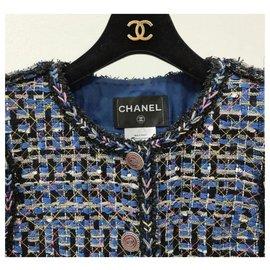 Chanel-Chanel 2016 Veste en tweed multi-Multicolore