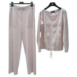 Chanel-Chanel Cashmere Loungewear Set-Pink