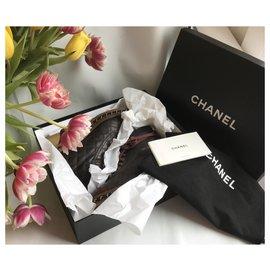 Chanel-Chain Around Combat Biker Ankle Boots-Brown,Dark red,Dark brown