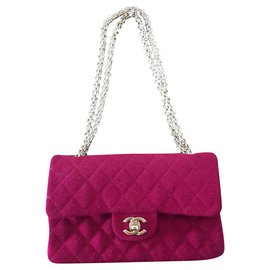 Chanel-Vintage Medium Chanel Timeless classic lined flap bag-Pink