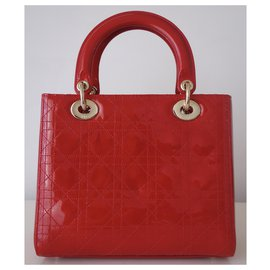 Dior-RED LADY DIOR BAG-Red