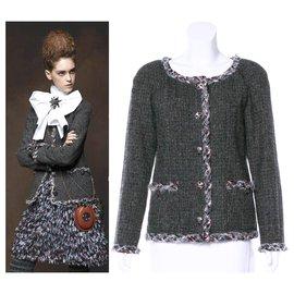 Chanel-Gripoix buttons Edinburgh jacket-Multiple colors