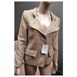 Chanel-Metallische Tweedjacke von Paris-Versailles-Golden