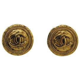 Chanel-CHANEL CLIPS EARRINGS-Golden