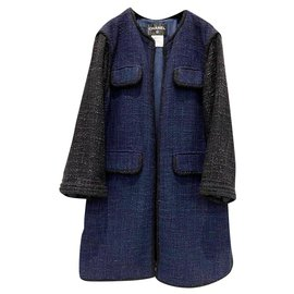 Chanel-cool oversized tweed coat-Multiple colors