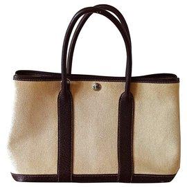 Hermès-Garden party-Brown,Beige