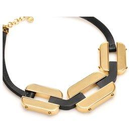 Fendi-Fendi Gold Chain Necklace-Black,Golden