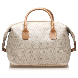 Dior-Dior Brown Honeycomb Coated Canvas Travel Bag-Brown,Beige,Light brown