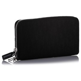 Dior-Dior Black Dior Oblique Nylon Long Wallet-Black
