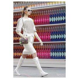 Chanel-5K$ lesage tweed jacket-Cream