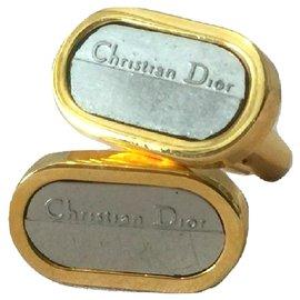 Christian Dior-CHRISTIAN DIOR boutons de manchette-Bijouterie argentée,Bijouterie dorée