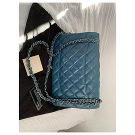 Chanel-Timeless Jumbo-Bleu