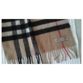 Burberry-Burberry men's cashmere scarf-Caramel