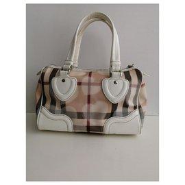 Burberry-Handbags-White