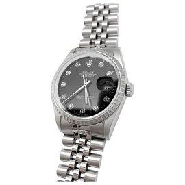Rolex-Rolex Jubilé diamond index watch.-Other