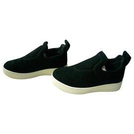 Céline-CELINE Sneakers bicolores T36 ITALIEN Etat impeccable-Noir