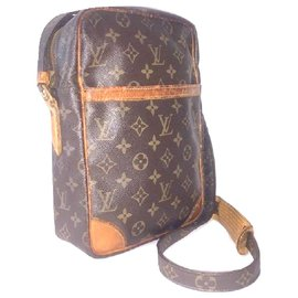 Louis Vuitton-LOUIS VUITTON vintage Danube MM bag-Brown,Orange