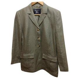 Burberry-Vintage Burberry linen blazer-Grey