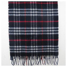 Burberry-Sublime Burberrys OF LONDON scarf,vintage in cashmere and wool-Blue