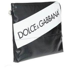 Dolce & Gabbana-DOLCE & GABBANA MAN POCHETTE-Black,White