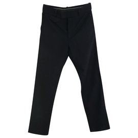 Gucci-straight legged trousers-Navy blue