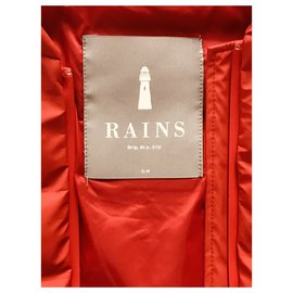Rains-Puffy jacket-Red