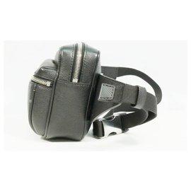 Louis Vuitton-LOUIS VUITTON Taigarama Bam bag outdoor Mens body bag M30245 Noir-Black