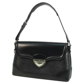 Louis Vuitton-LOUIS VUITTON Bagatelle PM Sac à bandoulière Femme M40232 Noir-Noir