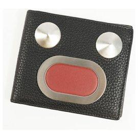 Fendi-FENDI Face Mens Folded wallet 7M0193 9QH F0GXN black x khaki-Black,Khaki