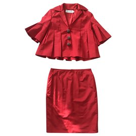 Dior-Skirt suit-Red