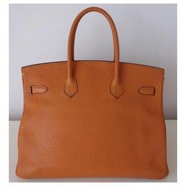 Hermès-Hermes orange Birkin bag-Orange