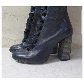 Chloé-CHLOÉ LACE-UP KNEE-HIGH BOOTS Sz.36-Black