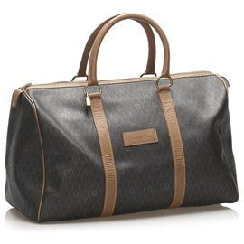 Dior-Dior Black Honeycomb Travel Bag-Brown,Black