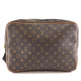 Louis Vuitton-Toile Monogram Louis Vuitton Reporter GM-Marron