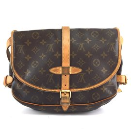 Louis Vuitton-Louis Vuitton Saumur 30 Toile monogramme-Marron