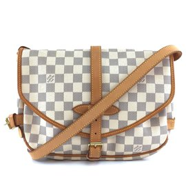 Louis Vuitton-Louis Vuitton Saumur 30 Toile Damier Azur-Marron