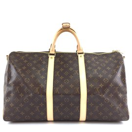 Louis Vuitton-Louis Vuitton Keepall 50 Toile Monogram Bandoulière-Marron