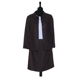 Chanel-Skirt suit-Prune