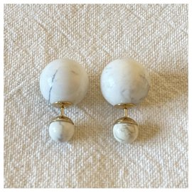 Dior-Earrings-White