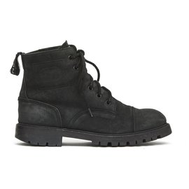 Chanel-FUR BLACK ARMY BOOTS FR38-Black