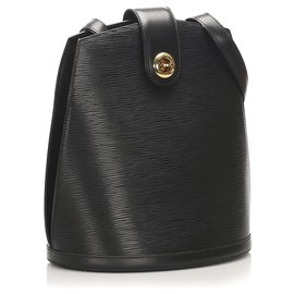Louis Vuitton-Louis Vuitton Black Epi Cluny-Noir