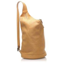 Loewe-Loewe Orange Anton Leather Backpack-Orange