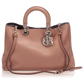 Dior-Dior Brown Lady Dior Leather Satchel-Brown