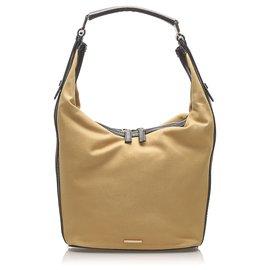Gucci-Gucci Brown Canvas Shoulder Bag-Brown,Light brown