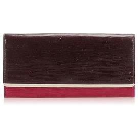 Louis Vuitton-Louis Vuitton Brown Epi Flore Wallet-Brown,Multiple colors,Dark brown