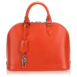 Louis Vuitton-Louis Vuitton Orange Epi Alma PM-Orange