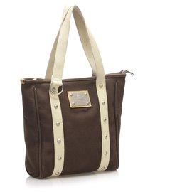 Louis Vuitton-Louis Vuitton Brown Antigua Cabas MM-Brown
