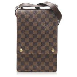 Louis Vuitton-Louis Vuitton Brown Damier Ebene Portobello Crossbody-Brown