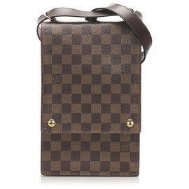 Louis Vuitton-Louis Vuitton Bandoulière Portobello Brown Damier Ebene-Marron