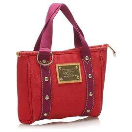 Louis Vuitton-Louis Vuitton Red Antigua Cabas MM-Red